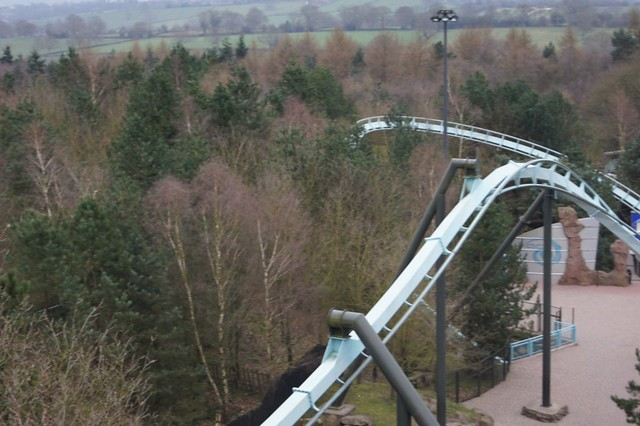 View of Air from the lift hill