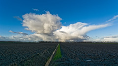 Out In The Great Wide Open (Alfred Grupstra Photography) Tags: blue sky clouds landscape nikon ditch wide nederland nl noordholland middenmeer