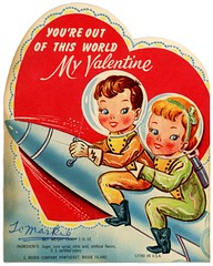 You're Out of This World, Valentine (Alan Mays) Tags: old blue girls red green boys yellow vintage paper children hearts cards funny holidays humorous candy space humor illustrations ephemera astronauts worlds valentines greetings rosen rockets outerspace printed lollipops outofthisworld borders valentinesday wordplay spaceships helmets companies greetingcards february14 spacesuits erosen saintvalentinesday diecuts