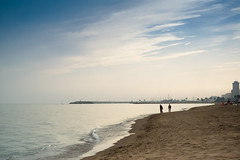 Family Walk At The Beach (k009034) Tags: ocean city travel family blue light sea sun love tourism beach water beautiful silhouette skyline spain sand mediterranean day waves walk warmth valentine valentines andalusia valentinesday fuengirola 500px teamcanon