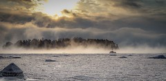 The sea is crying (mika.laitinen) Tags: ocean winter sea sun white snow cold tree ice nature water rock clouds canon suomi finland landscape island frozen helsinki frost cost steam shore 7d isle vuosaari 2016 uusimaa kallvik ef24105mmf4l