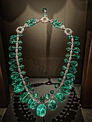 Art deco Indian Emerald Necklace designed by Cartier 1928-29 CE (mharrsch) Tags: washingtondc smithsonian necklace indian jewelry diamond artdeco emerald platinum museumofnaturalhistory 20thcenturyce mharrsch