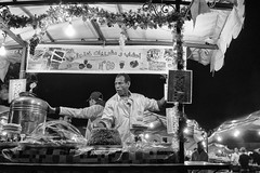 N 69 (enzo marcantonio) Tags: africa street leica city travel people blackandwhite bw food night work square outside holidays place outdoor streetphotography eat enzo marocco marrakech souk streetphoto q streetfood summilux ethnicity jamaaelfna marcantonio leicaq enzomarcantonio