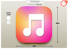 Music App Icon (FoxSquare (Moiz Rizwan)) Tags: music apple beautiful design store google colours graphic designer icon note developer colourful playlist splash ios blast songs android app headphone appicon appdesign foxsquare ios7 ios8 ios9