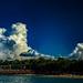 Cumulus clouds, Cullen Bay