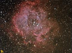 ngc 2244 100ed quintuplet  qhy9 (Giovanni astrobond69) Tags: filter nebula astrophotography astrofotografia planetarium f5 rosette starlight lodestar deepsky baader ngc2244 lrgb quintuplet starlightxpress astroart photoshopcs3 maximdl ioptron 100ed astrobond69 ieq45pro sxmfw2t qhy9mono