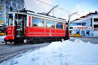 Wintertime Taksim Square Istanbul