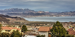 Boulder City View (magnetic_red) Tags: houses sky lake mountains clouds view nevada scenic lakemead bouldercity