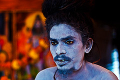 The Blue Gods follower (shubhankrishi) Tags: india celebration hindu baba ganga sadhu naga hindufestival ganges nashik festivalofindia kumbh trimbakeshwar nagababa mahakumbh massgathering