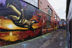 Be Deadly (J-C-M) Tags: street panorama streetart art wall painting graffiti artwork chopper alley paint grafitti collingwood stitch artistic australia melbourne wallart victoria alleyway lane laneway stitched bedeadly