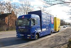 Ballard Removals with Bishops Move Trailer Retford 25th February 2016 (asdofdsa) Tags: man transport lorry trucks trailer removals retford haulage hgv drawbar