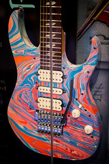 Ibanez Swirled UV (paul_ouzounov) Tags: musician music shop guitar bare knuckle guitars jackson custom esp prs namm kiesel 2016 carvin strandberg aristides zeiss55mm sonya7 namm2016