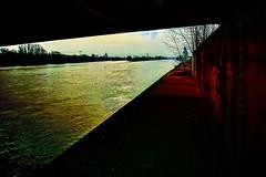 under the railway bridge (J☮t.Oldmαn) Tags: magdeburg elbe