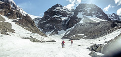 (VernsPics) Tags: red sky panorama snow mountains ice climb veil risk nuns glacier want clear mountaineering mountaineers nunsveil