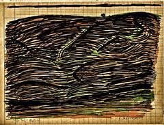 Ein Urtal (web.werkraum) Tags: 2005 original color europa ks natur unterwegs landschaft zeichnung handzeichnung farbstifte wegzeichen vertrautheit dasdasein zeichnerin tagesnotiz webwerkraum karinsakrowski kramenindenfchern meinberlineratelierab2008beiflickr urtal