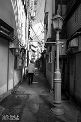 Gondo Back Alley (seantaylorphotography) Tags: street blackandwhite white black lamp japan canon shopping japanese alley backalley post streetphotography lamppost sake chef 5d nagano 1740 sidestreet 1740l gondo 5d2 5dmk2
