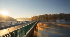 A cold, but beautiful morning (impossiblejoker) Tags: morning bridge winter sun sunrise germany deutschland nikon mood nrw brcke sonne sonnenaufgang sonnenstrahlen sunbeams verse sauerland ldenscheid morgennebel klamerbrcke d7100