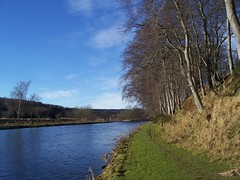 River Don, Inverurie, Aberdeenshire, Feb 2016 (allanmaciver) Tags: blue trees winter cold river aberdeenshire walk country north calm east don serene inverurie allanmaciver