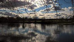 Spring (tobymeg) Tags: sky cloud sun reflection water mobile scotland spring microsoft dumfries 640 nith lumia lte