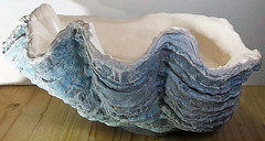 Giant Blue Clam Shell 11 (LittleGems AR) Tags: ocean blue sea sculpture sun beach home giant bathroom shower aquarium soap sand bath hand sink natural contemporary unique decorative aquamarine shell craft style toilet towel clam basin special clean shampoo taps wash seashell pearl nautical reef decor spa gems luxury opulent gem fossils clamshell mollusks cloakroom bespoke tridacna sculpt crafted gigas facetowel
