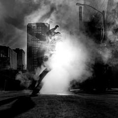 second.hand.smoke (jonathancastellino) Tags: street leica urban toronto face square hands hand arm skateboarding head smoke ghost stranger steam josh skate figure skateboard rise gesture downtwon
