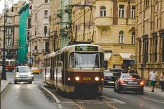Red Tram, Prague, Czech Republic (Kris McNeil) Tags: red republic czech prague tracks tram