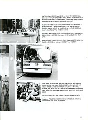 New York City Transportation (Hunter College Archives) Tags: newyorkcity newyork bus cars walking subway yearbook 1993 hunter lexingtonave cityofnewyork huntercollege 68thst wistarion thewistarion