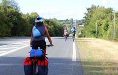 On the road (dellannadavide) Tags: voyage road travel friends people france bike cyclist biking traveling