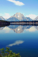 Mount Moran Reflection, Grand Teton WY 2011 (inkknife_2000 (6.5 million views +)) Tags: usa mountains forest reflections landscapes glaciers craigs wyoming mountmoran peaks nationalparks grandteton waterreflections jacksonlake dgrahamphoto