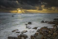 Barrika (Explore) (Jose Cantorna) Tags: atardecer mar agua nikon cielo nubes bizkaia seda euskadi rayos barrika d610