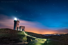 Elie (ianrwmccracken) Tags: sky lighthouse lightpainting night stars lowlight orion constellation elie