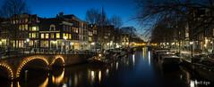P3170487-PanoC (Vishari Beduk) Tags: blue panorama amsterdam hour brouwersgracht