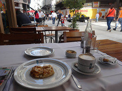 Al Fresco Light Lunch, Buenos Aires (itchypaws) Tags: coffee argentina america table lunch restaurant al cafe buenosaires ar outdoor south plates fresco empanada suarez 2016 ciudadautnomadebuenosaires