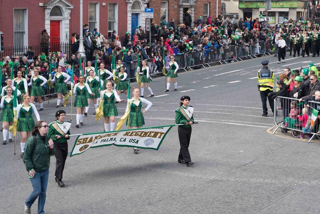 John F. Kennedy High School (Shamrock Regiment), California [St. Patrick's Parade 2016]-112640