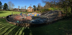 Playground panorama, Church House Gardens. (jrphotos98) Tags: playground earlymorninglight churchhousegarden