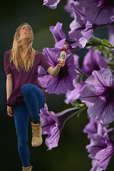 Captain Morgan Pose (swong95765) Tags: flowers woman motion beauty lady female pose jump pretty bokeh blonde rum captainmorgan accending
