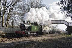 Passing St. Mary's Halt (powern56) Tags: train railway gloucestershire prairie gwr steamlocomotive dfr lydney 5541 deanforestrailway