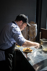 Chef Rob Bragagnolo (Rene S. Suen) Tags: toronto sandwich carver porchetta renedinesout robbragagnolo march2016 sergiofiorino