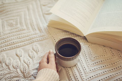 Taking time to read (Laura Marianne) Tags: reading book soft moments quiet coffe littlethings