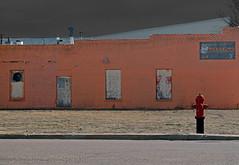 pink ballet (Patinagal) Tags: windows building brick facade doors decay