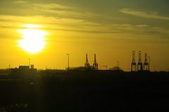 Sunset over Zeebrugge (davidvankeulen) Tags: sea meer europe belgium belgique noordzee belgië zee westvlaanderen northsea flanders belgien westflanders zeebrugge kust vlaanderen belgischekust davidvankeulen davidcvankeulen urbandc davidvankeulennl belgiumcoastline