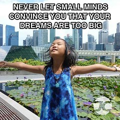 If you tell her she dreams too big, she'll tell you you think too small. #sallychow #dreamer #bigdreams #motivation #unstoppable #singapore #richkids