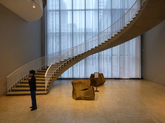 Should I go. (army.arch) Tags: chicago art window stairs illinois il staircase curve artinstitute musem