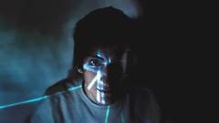 daft-punk(ed) (FrankDarko1) Tags: light portrait music sexy male face sex photomanipulation photoshop 35mm dark nose photography lights eyes punk exposure day foto andrea hard depression f18 claudio potrait 35 effect daft ritratto egos daftpunk pizzo d3200 frankdarko frankdark0 andreapizzo frankdarko1