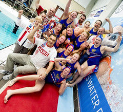 Women's Water Polo Olympic Games Qualification Tournament 2016 - Gouda (fina1908) Tags: blue women thenetherlands fina ned waterpolo gre olympicgames gouda qualification 2016 tournament2016 rusrussiacheers