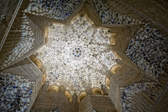 Ceiling of the Alhambra palace (Tiigra) Tags: granada andalucía spain es 2015 applied architdetail carving dome interior ornament palace