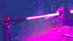 548 (Beth Amphetamines) Tags: pink wallpaper building dead for outfit screenshot mix pretty power purple colleen rifle super beam armor laser strong mutant brunette dying derelict blast lazer crippled courser fallout4 tumbajumba