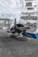 Tied Off (petojustin) Tags: ocean sea blackandwhite bw seascape monochrome clouds marina outdoors fishing florida shoreline stuart yachts emount sel24f18z sonnarte1824 sonya6000