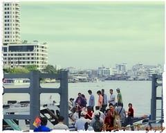 Getting on the boat (Ghatahora Photography) Tags: thailand singapore chaophrayariver boathouses hampshirephotographer songsoftheseasingapore bhupinderghatahora ghatahoraphotography chinesepogodatowertemple floatingmarketchaophraya tourriverbangkokthailand marketoutsidewatarun