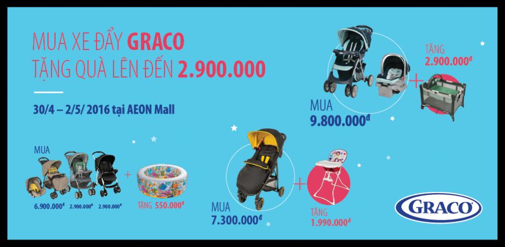 Gần 11 triệu đồng quà tặng từ nhãn hàng GRACO